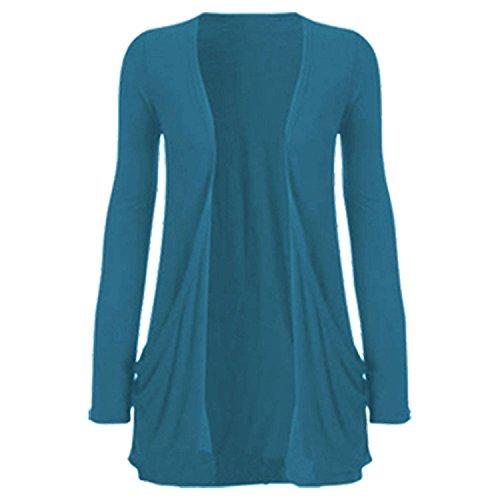 taille FashionCity Gilet unique sarcelle bleu Femme EqFqH6