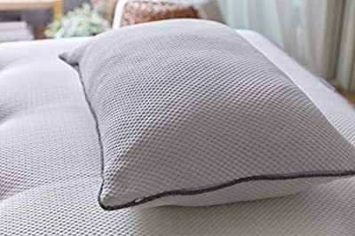 Brentwood Home Ojai Luxury Shredded Cooling Gel Memory Foam Pillow, Adjustable for Better Sleep, Non-Toxic, Made in California