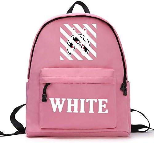 BHDYHM Schulrucksack Bookbag Bag High Middle Rucksäcke for Herren Damen Jungen Mädchen (Color : Pink)