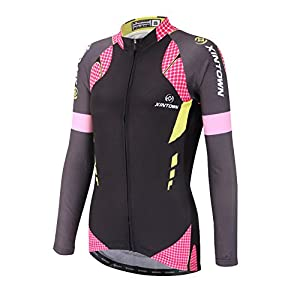 DuShow Women Bike Bicycle Cycling Long Sleeve Jersey Top Shirt(2XL,Black)