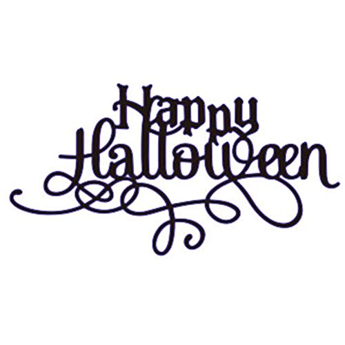 Zzeroe Cutting Dies Halloween Witch Pumpkin Embossing Stencil Template Mould for DIY Scrapbook Photo Album Embossing Craft Decoration Paper Card Making(Letter) -