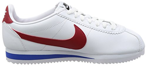 Cortez Blanc Leather Running Classic WMNS White Royal Red 103 Varsity Varsity Chaussures Compétition de NIKE Femme BqnwEzzt