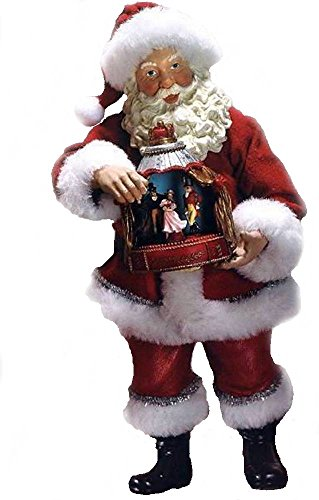 Santa Musical Nutcracker - Retired 2010 Kurt Adler Fabriche *Santa W/Nutcracker Stage* Musical