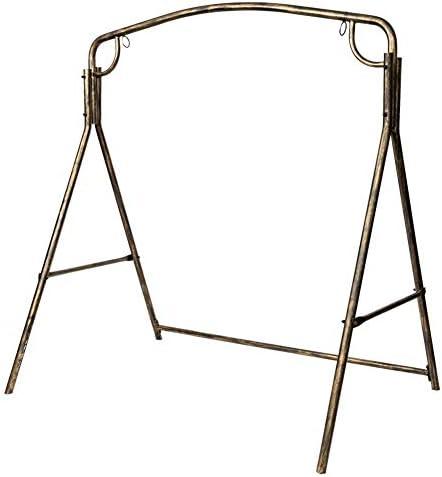 Coaste Swing Frame Metal Swing Frame Large Heavy Duty Metal Swing Stand Outdoor Garden Iron Art Swing Frame, Black