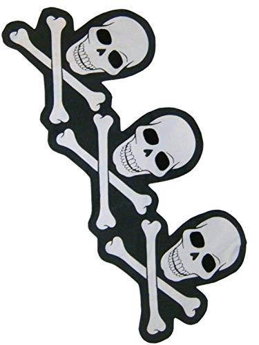 Ghouls Gala Halloween Skull & Cross Bones Black & White Table Runner 14x34