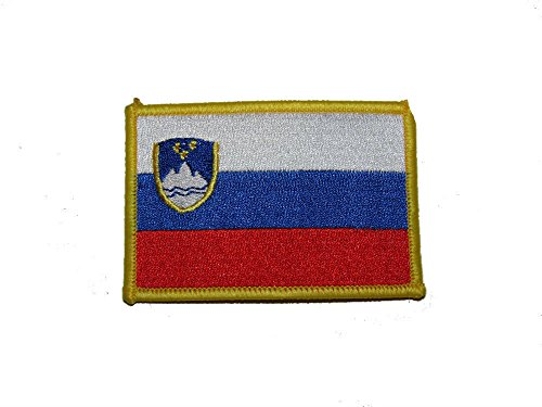 ALBATROS Slovenia Country Iron On Patch (Pack of 3) for Home and Parades, Official Party, All Weather Indoors Outdoors ()