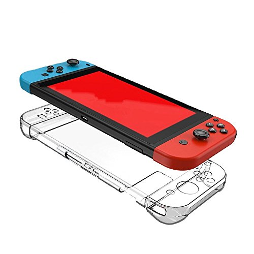 Homase Nintendo Switch Hard Back Case Cover Anti-scratch Transparent Crystal Protector Shock-absorpt Icon