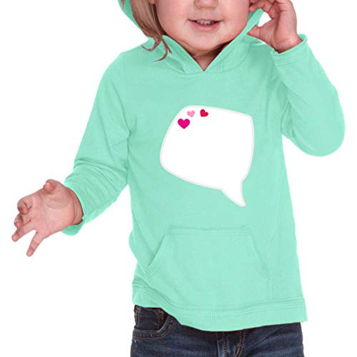 Cute Rascals Valentine Dream Long Sleeve Hooded Infant Boys-Girls Cotton/Polyester RawEdge Hoodie Sweatshirt - Ice Green, 24 Months