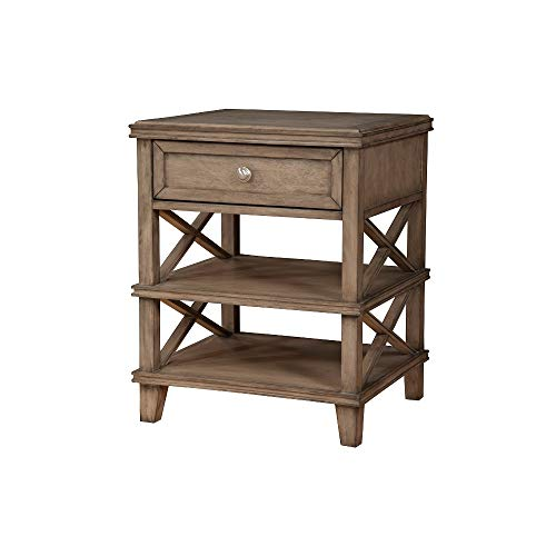 Benzara BM171764 Traditional Nightstand with One Truffle Drawer, Brown