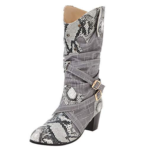 Mavirs Womens Mamyst Block Heel Mid-Calf 5.5 cm Boots, B07GLTYS6V Leather, 8 B(M) US B07GLTYS6V Boots, Shoes 0b4e32