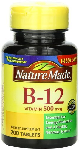 Nature Made Vitamin B-12 500 Mcg, Tablets, 200-Count (Pack of 2)