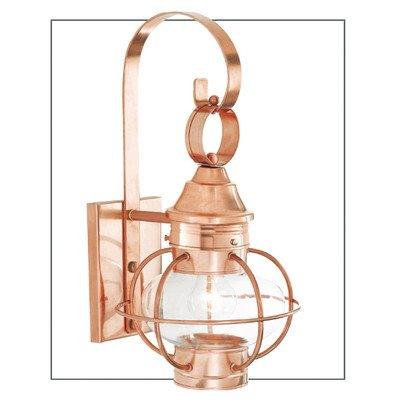 - Norwell Lighting 1613-SI-CL New Vidalia Onion - One Light Outdoor Small Wall Mount, Glass Options: Clear Glass, Choose Finish: SI: Sienna