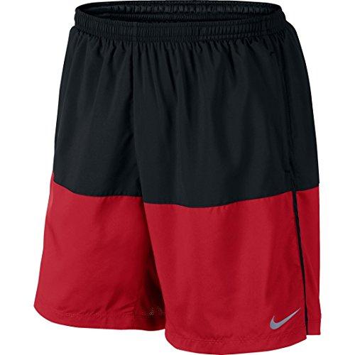 "Nike Flex Men's 7"" Running Shorts, Black/University Red, Medium"