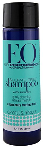 EO Botanical Sulfate-Free Shampoo with Keratin, Coconut and Hibiscus, 8.4 oz