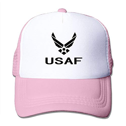 HFJS JDJG US Air Force USAF Unisex Mesh Adjustable Plain Baseball Cap Trucker Hat