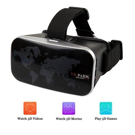 VR Headset, iRush 3D Virtual Reality Video Glasses, VR Glasses Box, VR Park for 3D