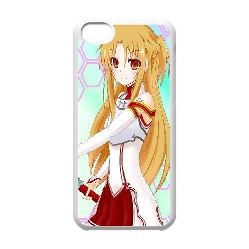 Asuna Sword Art Online coque iPhone 5C Housse Blanc téléphone portable couverture de cas coque EBDOBCKCO14648