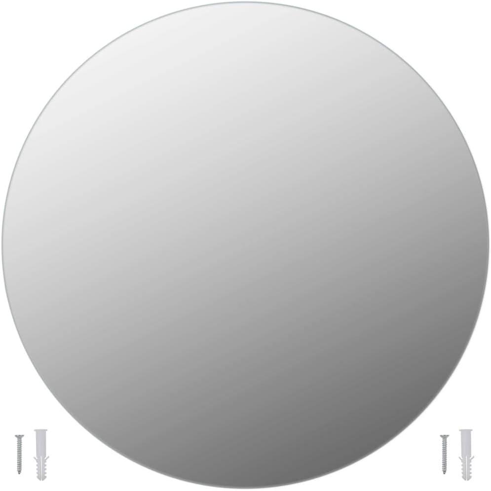 mewmewcat Espejo Redondo de ba/ño Hecho de Vidrio finamente Pulido Espejo Decorado Di/ámetro 50 cm