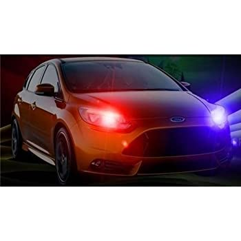 Ford Focus Multi Color Xenon Taillight Headlight Strobe Emergency Hazard Warning Kit With Adjustable Remote