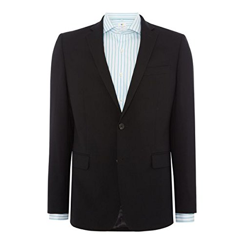 [ロチャードジェームスメイフェア] メンズ ジャケット&ブルゾン Super Black Hopsack Frederick Suit Jacke [並行輸入品] B07FH7C4TG  38 Regular