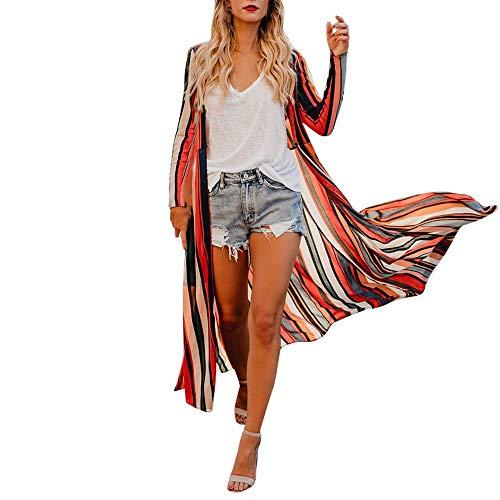 Multicolore Tops Chemise No l Manches shirt Rayures Tops Xinantime Automne T Femmes hiver et Longues Blouse 4AF4Zwfq
