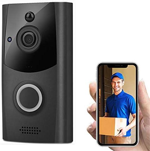 スマートWIFIインターホンドアベル、HDバッテリーまたはAC電源PIR検出双方向オーディオドアベルドアベルカメラワイヤレス低電力監視