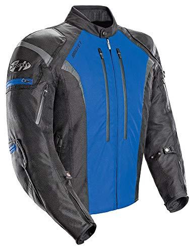 Joe Rocket Atomic Men's 5.0 Textile Motorcycle Jacket (Blue, X-Large)