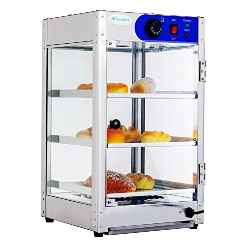 SUNCOO 24 Inches Commercial Countertop Hot Food Warmer Display Case Food Showcase for Restaurant Heated Cabinet Pizza Warmer Countertop Empanda Pastry Patty 14 inchW X 14 inchL X 24 inchH