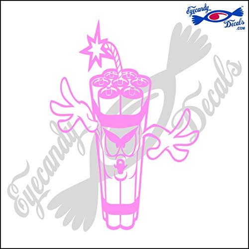 Eyecandy Decals Fireworks Dynomite Man Skinny 6 INCH Decal Light Pink
