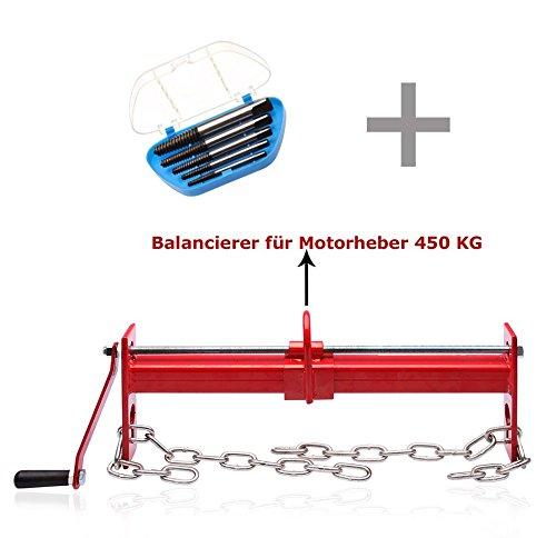 Balancier pour grue d'atelier + Jeu de 5 extracteur de vis tourne á gauche Otger Lensker