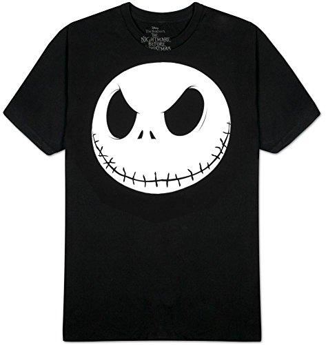 Disney Nightmare Before Christmas Men's Fat Head T-Shirt, Black, Medium (Christmas Men)