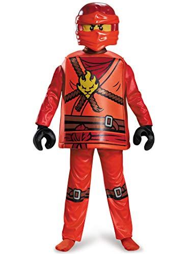 Ninjago Nya Halloween Costumes (Disguise Kai Deluxe Ninjago Lego Costume,)
