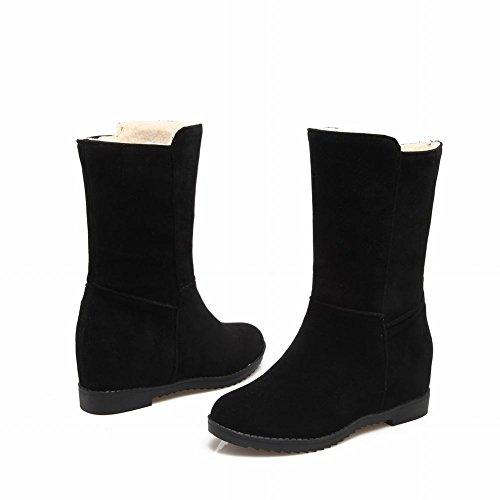 Black Slip Inside Short Boots Shoes On Snow Heel Mee Women's vTzxa