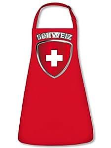 Suiza Fan Delantal Delantal, delantal con cuello ajustable VERS. Colores golebros