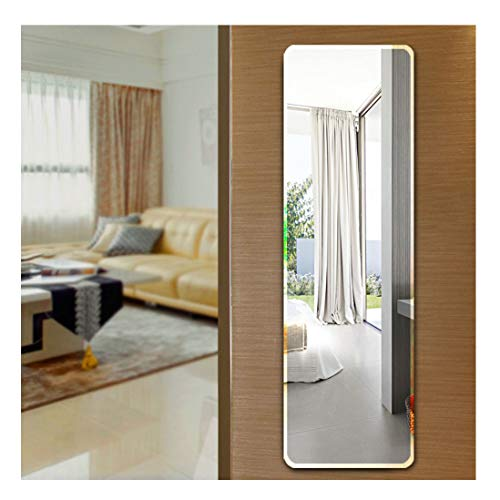 Ecentaur Wall Mounted Beveled Edge Mirror Doors Hanging Mirrors Full Length Glass -