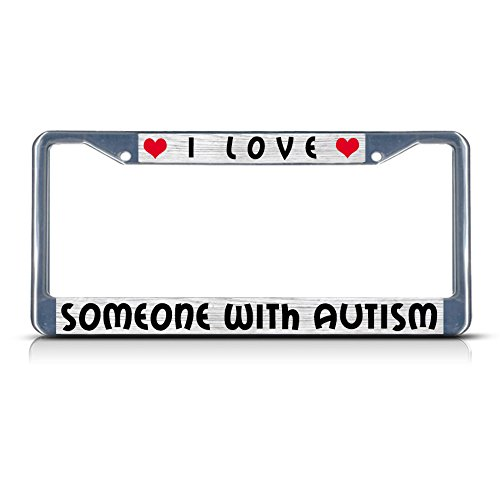 Fastasticdeals I Love Someone with Autism License Plate Frame Tag Holder Cover