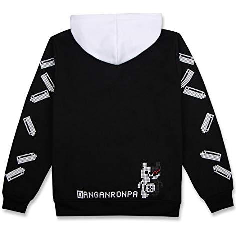 Coslover Black White Bear Hoodies Zipper Unisex Jacket Uniform