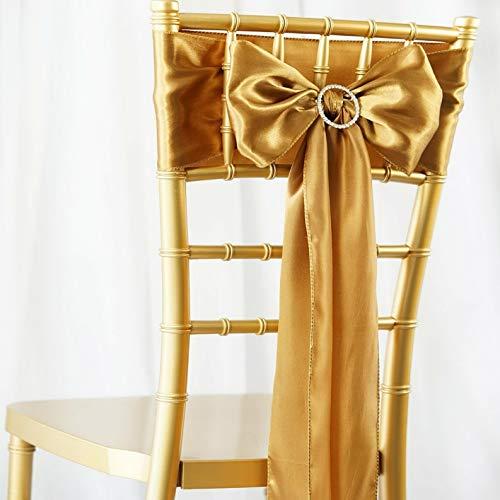 (Mikash 5/PK ~New~ Satin Chair Sash Bow Wedding Party Banquet 20+ Colors! | Model WDDNGDCRTN - 19616 |)
