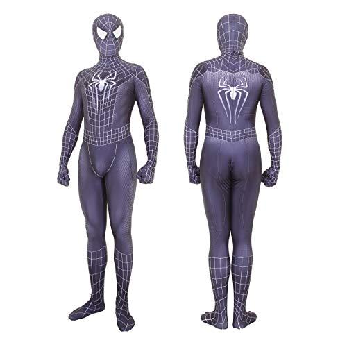 Unisex Lycra Spandex Zentai Halloween Venom Cosplay Costumes Adult/Kids 3D Style (Adults-S Black