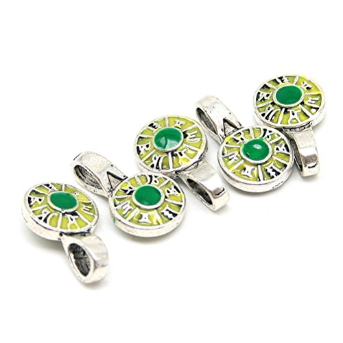 Beautiful Bead 5 pcs Medal Shaped Enamel Cloisonne Jewelry Findings Pendants for Necklaces Light Yellow