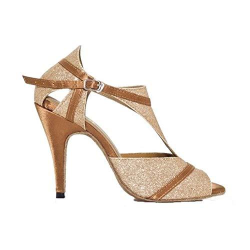 Zapatos Salón De ll 5cm Mujer Amistad Alto Gold8 Purpurina Moda Whl Blando Pescado Latino Tacon Modernos Boca Fondo Baile La xtXTWCfqWw