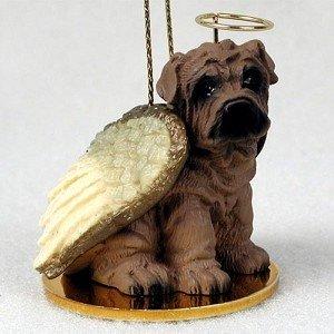 Brown Shar-Pei Christmas Angel Ornament