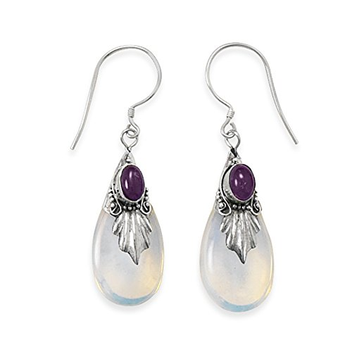 Glass Leaf Earrings - 9
