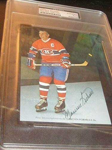 Maurice Richard Autographed Signed Postcard Photo Montreal Canadiens Hockey PSA Slabbed from Sports Collectibles Online