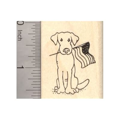 4th of July Dog Rubber Stamp, with American Flag: Arts, Crafts & Sewing