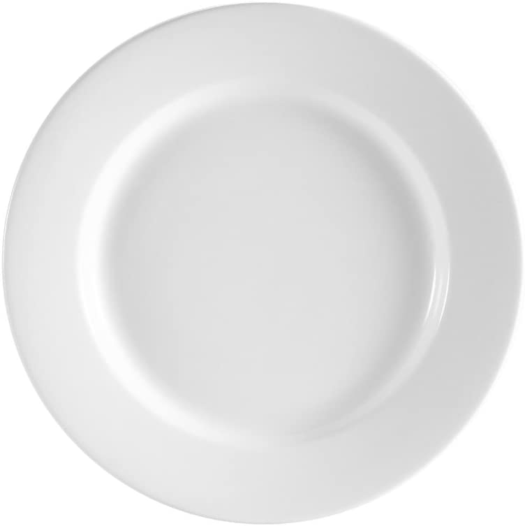 CAC China REC-5 Rolled Edge 5-1//2-Inch Stoneware Round Plate American White Box of 36