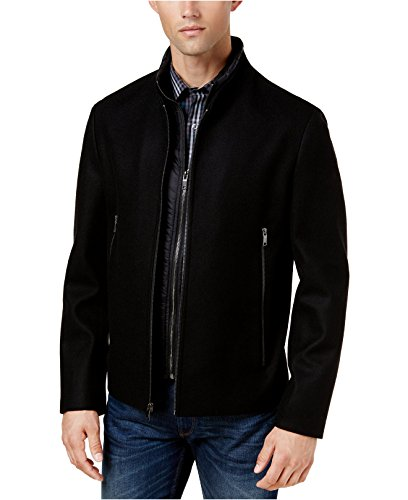 Alfani Men's Water-Resistant Bomber Jacket Deep Black Large