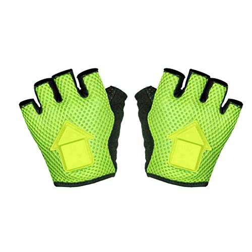 Shan-S Bicycle Turn Signal Gloves, Mountain Bike Gloves with LED Turn Signal Lights Gloves, Half Finger Breathable Outdoor Cycling Gloves