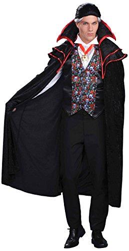 [Forum Novelties Men's Plus-Size Baron Von Blood Vampire Costume, Black, Plus] (Plus Size Vampire Costumes)