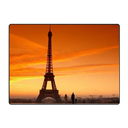 YSKHDBC Stylish Amazing Eiffel Tower Welcome Super Absorbent Anti-Slip Mat,Funny Doormat,Indoor/Outdoor Decor Rug Doormat 60 x 39 inch Non-Slip Home Decor